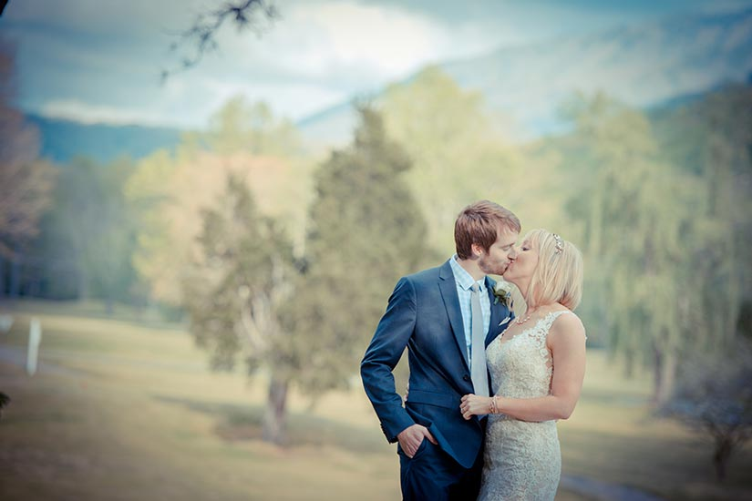 Couple wedding Smoky Mountains